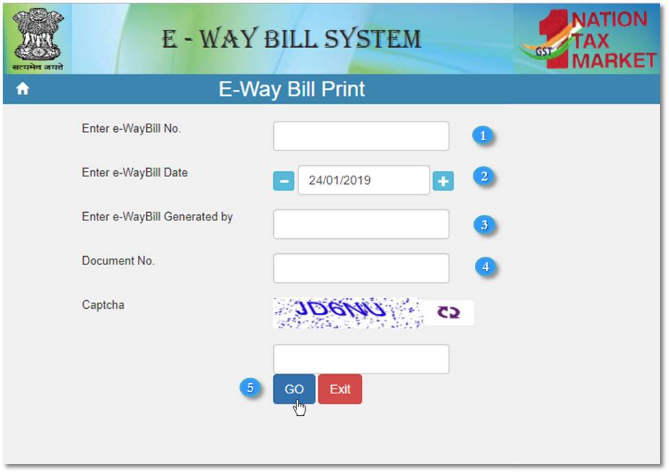 How to Print the e-Way Bill without Login? | EZTax in GST