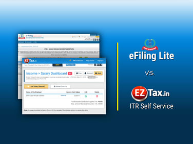 eFiling Lite vs EZTax Self Service Income Tax Filing