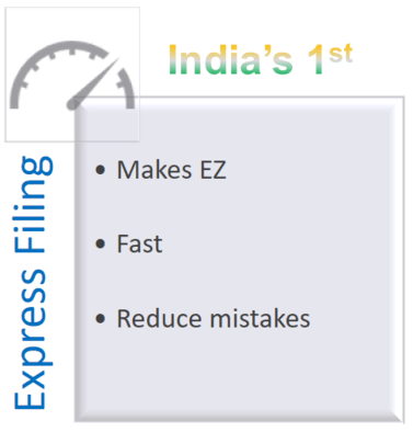 Express Filing for an easier Income Tax Filing from EZTax.in India