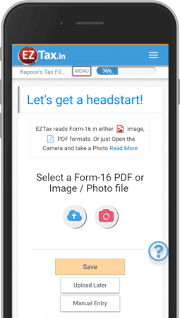Get EZTax.in ITR Filing App for AY 2018-2019 on Google Play Android