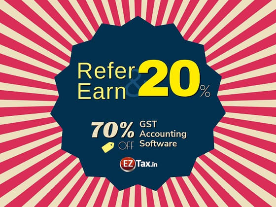 Refer & Earn 20% on GST Accounting Software
