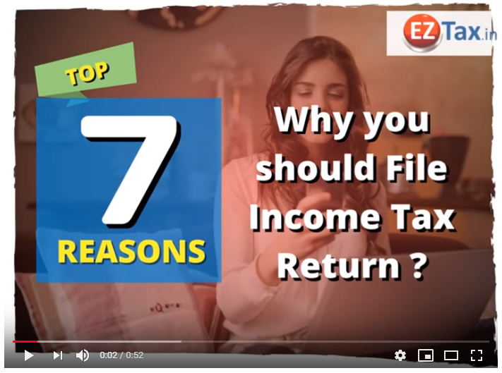 Top 7 Resons, Why to File ITR