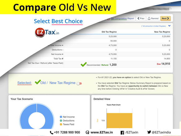 Old Vs New | Compare & Select the Best from EZTax.in