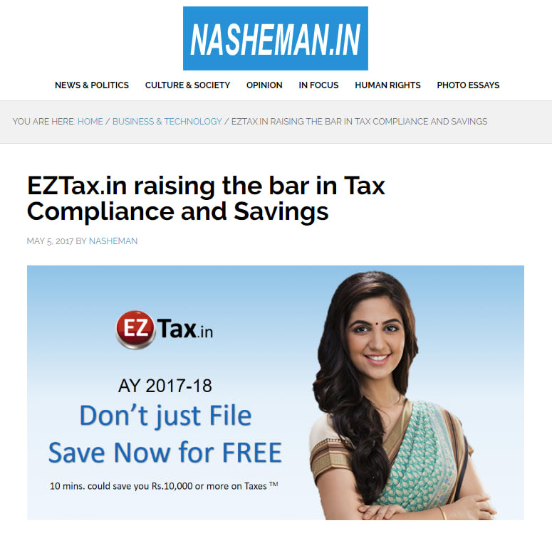 Press coverage from Nasheman on EZTax Solutions