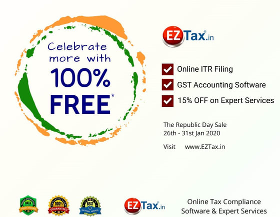 Free Republic Day 2020 Sale on Software Offerings from EZTax.in