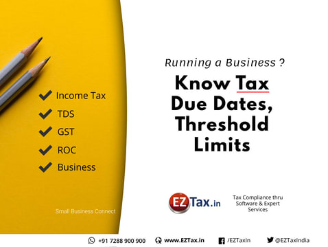 Tax Threshold Limits Due Dates For Fy 2019 20 Eztax In Help Center